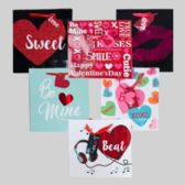 48 Units of Gift Bag Love Glitter/hotstamp 48pc Pdq/large 9.6 X 10 X 4in Upc/gift Tag/vertical-horiz - Valentines