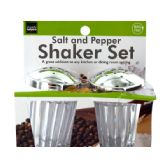 72 Units of Crystal Look Salt & Pepper Shaker Set - Kitchen Gadgets