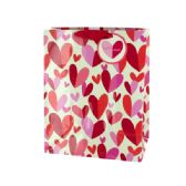 108 Units of 'Happy Day' Hearts Gift Bag - Gift Bags