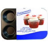 6 Units of Bakery Grade 6 CupJumbo Muffin Pan - Frying Pans and Baking Pans