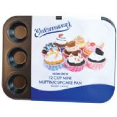 6 Units of Bakery Grade 12 Cup Mini Muffin Pan - Frying Pans and Baking Pans