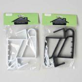72 Units of Hook Over The Door 2pk Plastic Black/white 6.25in X 3.25in Home Pbh - Hooks/Hook Racks