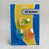 96 Units of Novelty 3pk Pencil Sharpener - SHARPENERS
