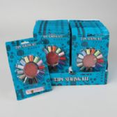 48 Units of Sewing Kit 33pc/24pc Pdq 14 Threads/18 Needles/1-60in Tpe Sewing Blistercard - Sewing Kits/ Notions