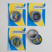 96 Units of Stationary Filled Magnetic Tins Blister Card