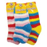 96 Units of KIDS SNUGGLE SOCK STRIPED DESIGN