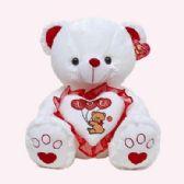 "6 Units of VALENTINES 15"" WHITE BEAR I LOVE YOU & KISS SOUND - Valentines"