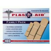 144 Units of 100 Ct Doctor's Aid Adhesive Bandages - First Aid / Band Aids