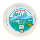 12 Units of NATURE'S OWN PAPER PLATES 100 COUNT 6 INCHES