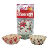 72 Units of BAKING CUP 50 COUNT MUFFIN SIZE ASSORTED CHRISTMAS COLLECTION