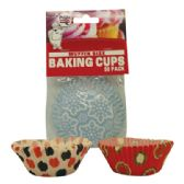 72 Units of BAKING CUP 50 COUNT MUFFIN SIZE ASSORTED MODERN DESIGNS