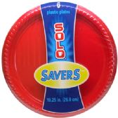 12 Units of SOLO PLASTIC PLATE 6 CT 10.25 INCH RED