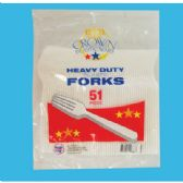 48 Units of 51 CT PLASTIC FORK CUTLERY