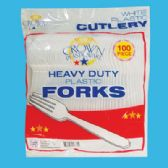 24 Units of 100 COUNT PLASTIC FORK