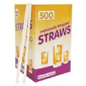 12 Units of 500 COUNT DRINKING STRAW