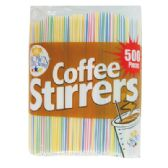 48 Units of 500 COUNT COFFEE STIRRER