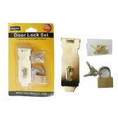 "96 Units of Door Hasp 3"" With 25mm Padlock - Doors"