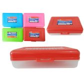"48 Units of Pencil Box 8x5x2.25""H asst colors"