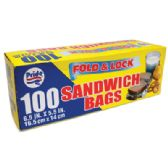 48 Units of 100 COUNT SANDWICH BAGS - Bags Of All Types