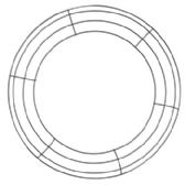 48 Units of Wreath Frame Wire Round 12in Pe Coated/craft Hang Tag