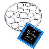 12 Units of CHROME TRIVETS - Coasters & Trivets