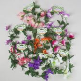 48 Units of Garland 4ft 8ast Spring/summer Florals On Tie On Card - Party Favors