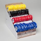 48 Units of Coin Wallet Squeeze Open 4ast Colors