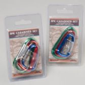 48 Units of Carabiner Set 3pk Clips Ast Color Clampack 12pc Merch- Strip Travel Art - Travel & Luggage Items