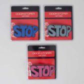 """36 Units of Door Stopper """"stop"""" Shaped 3ast Colors 4.8x2.2in Blstr Card - DOORS"""