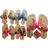 24 Units of Women's Slippers 4 Assorted Colors
