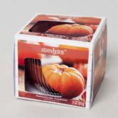 288 Units of Candle Scented 3 Oz Window Boxed Farmhouse Pumpkin