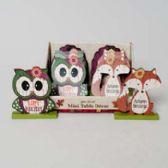 48 Units of Harvest Character Mini Table Decor Turkey/harvest/thanks In 12pc Pdq W/upc Label