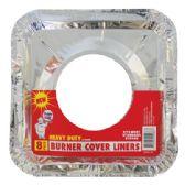 72 Units of FOIL BURNER LINER 8 PACK 8.5 X 8.5 INCHES HEAVY DUTY - Aluminum Pans