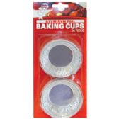 48 Units of 24 PACK FOIL BAKING CUPS - Baking Supplies