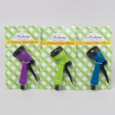 24 Units of Hose Nozzle/sprinkler 5 Function Green/blue/purple Garden Tiecard - Garden Hoses and Nozzles