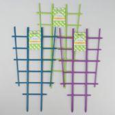 48 Units of Trellis 2pk 18.75x10 For Planter 50% Green/25% Ea Blue & Purple Per Case L&g Tie-on Card - Garden Planters and Pots