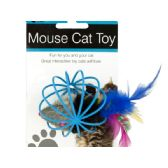 36 Units of Feathered Mouse in Ball Cage Cat Toy - PET TOYS