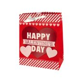 108 Units of Valentine's Day Striped Gift Bag - Gift Bags