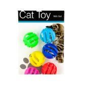 72 Units of Balls with Bells Cat Toys Set - Pet Toys
