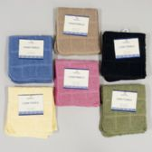 72 Units of Kitchen Dish Cloth 2pk 12in Sq 100% Cotton 6 Asstd Solid Colors Camel,blk,yellow,blue,olive,ro - Kitchenware