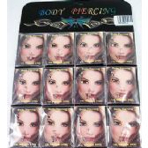 36 Units of Body Jewelry/ Body Piercing 3 piece a set all clear color