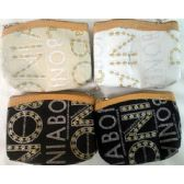 24 Units of Wholesale Coin Purse w/ zipper gold glitter letter