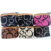 24 Units of wholesale Coin Purse w/ zipper G style with White spot