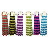 12 Units of Wholesale Long Cotton Dress Tie Dye Print Assorted Colors - Womens Apparel