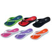 36 Units of Girl's Sport Multi Colors Flip Flops - Girls Flip Flops