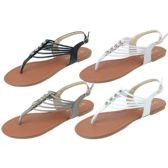 36 Units of Ladies' Fashion Sandals Assorted Colors