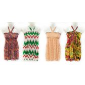 12 Units of Wholesale Kids Summer Sun Dress Tube Style with Neck Strap - Womens Apparel