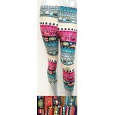 12 Units of Three Quarter Length Leggings in Assorted Colors - Womens Leggings