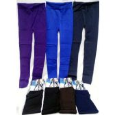 12 Units of Women's Leggings in Assorted Solid Colors - Womens Leggings