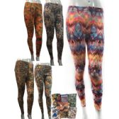 12 Units of Wholesale Extreme Soft Fleece Leggings with Colorful Patterns